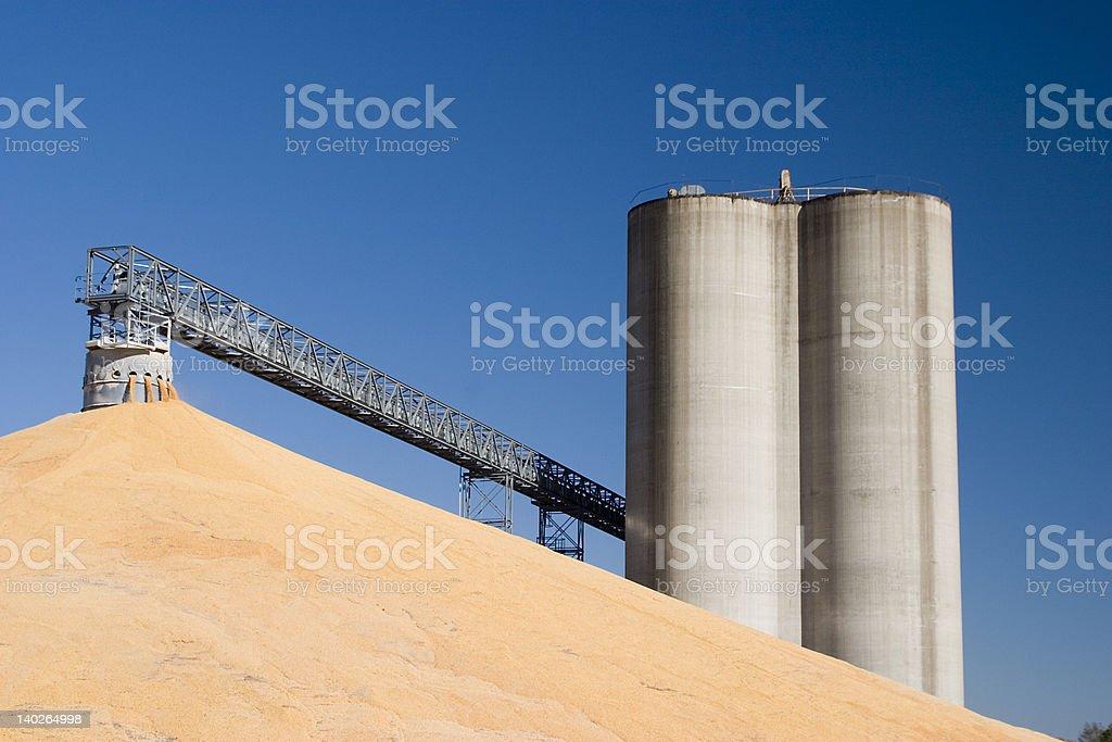 Midwest grain elevators royalty-free stock photo