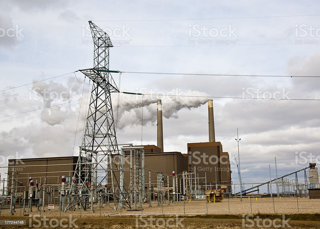 midwest power plant royalty-free stock photo