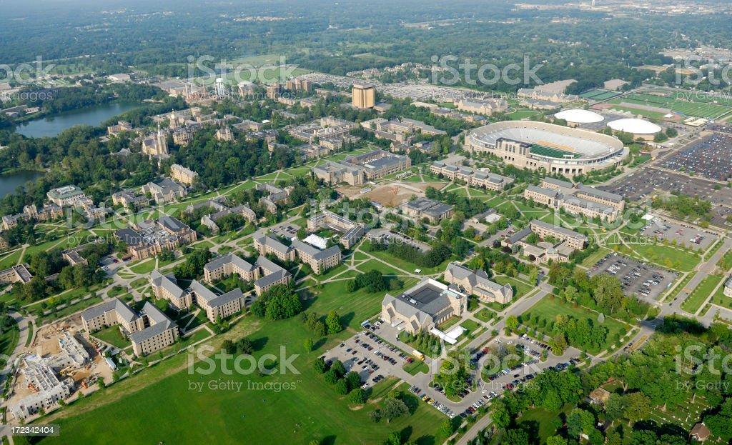 Midwestern American university royalty-free stock photo