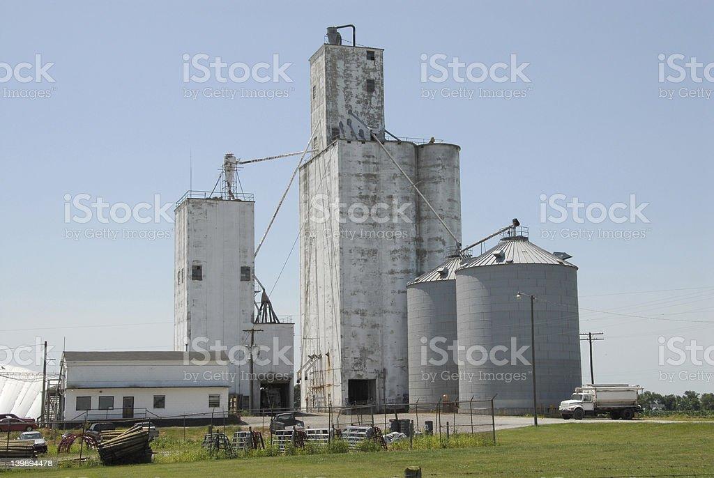 Midwestern USA Grain Co-op stock photo