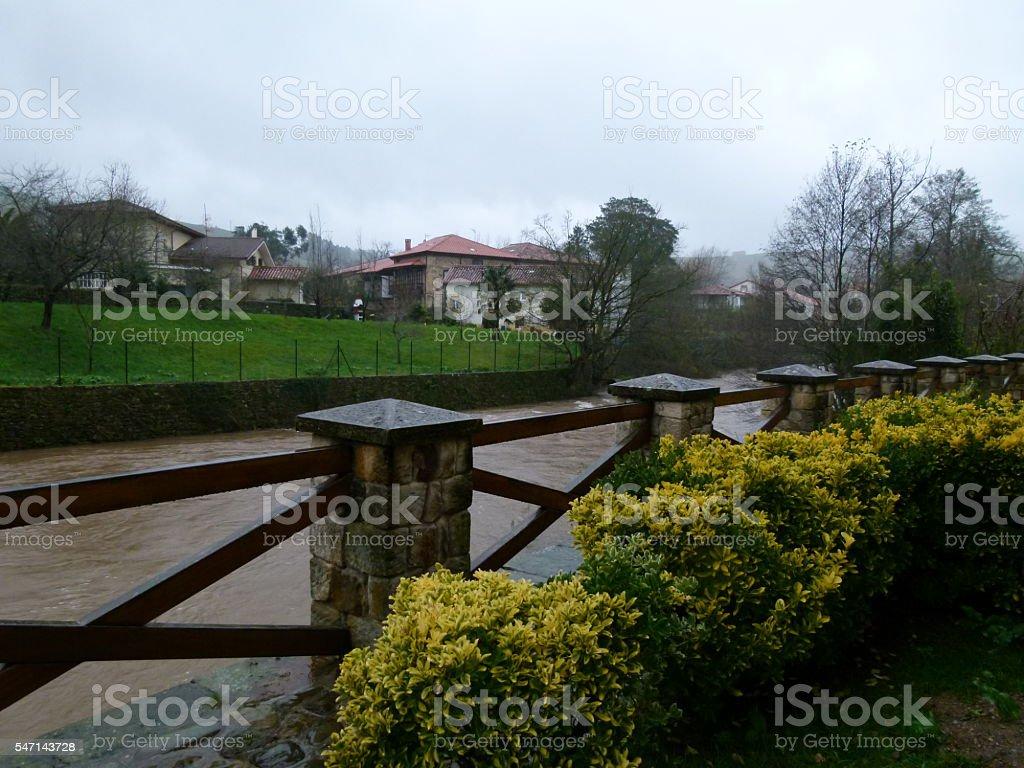 Miera river stock photo