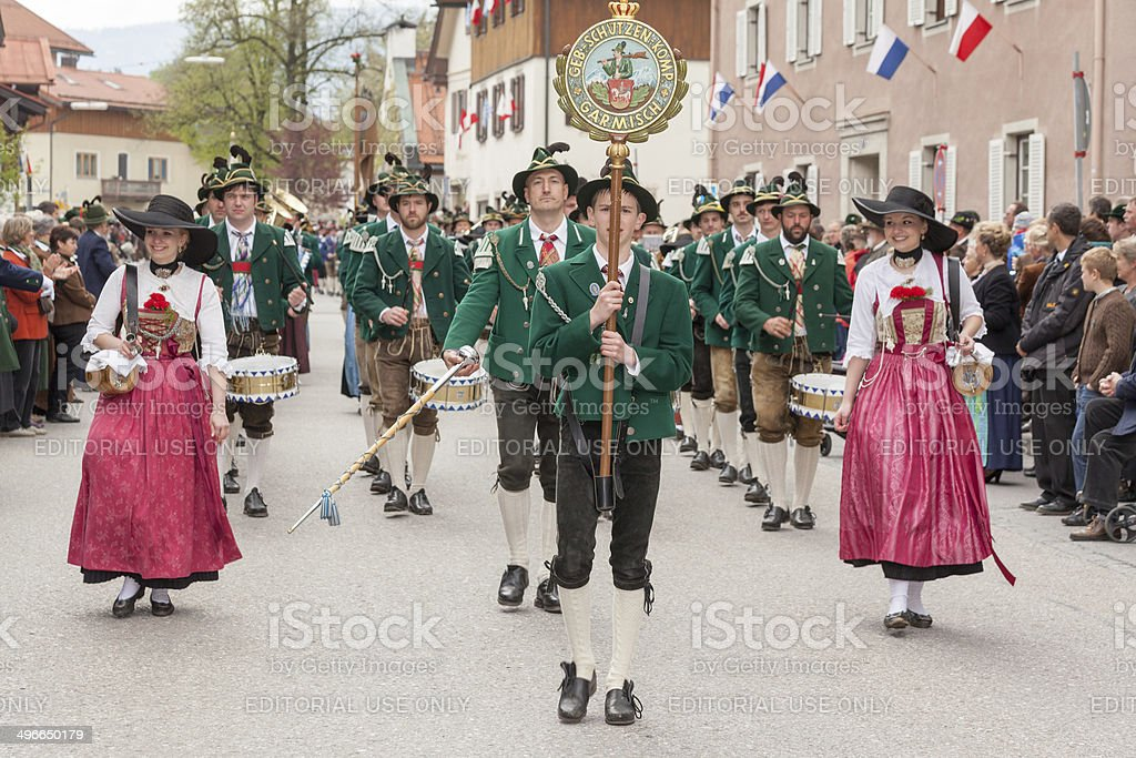 Miesbach,Germany – 05.04. 2014:Company of the mountain troops from Garmisch royalty-free stock photo