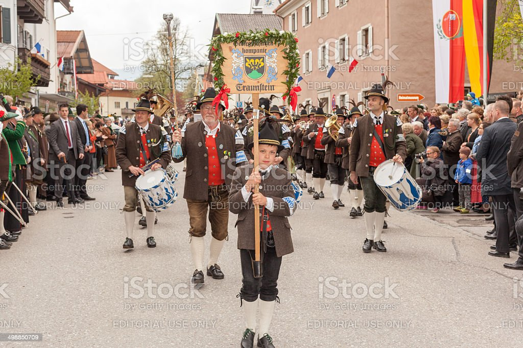 Miesbach,Germany – 05.04. 2014:Mountain protect company Traunstein royalty-free stock photo
