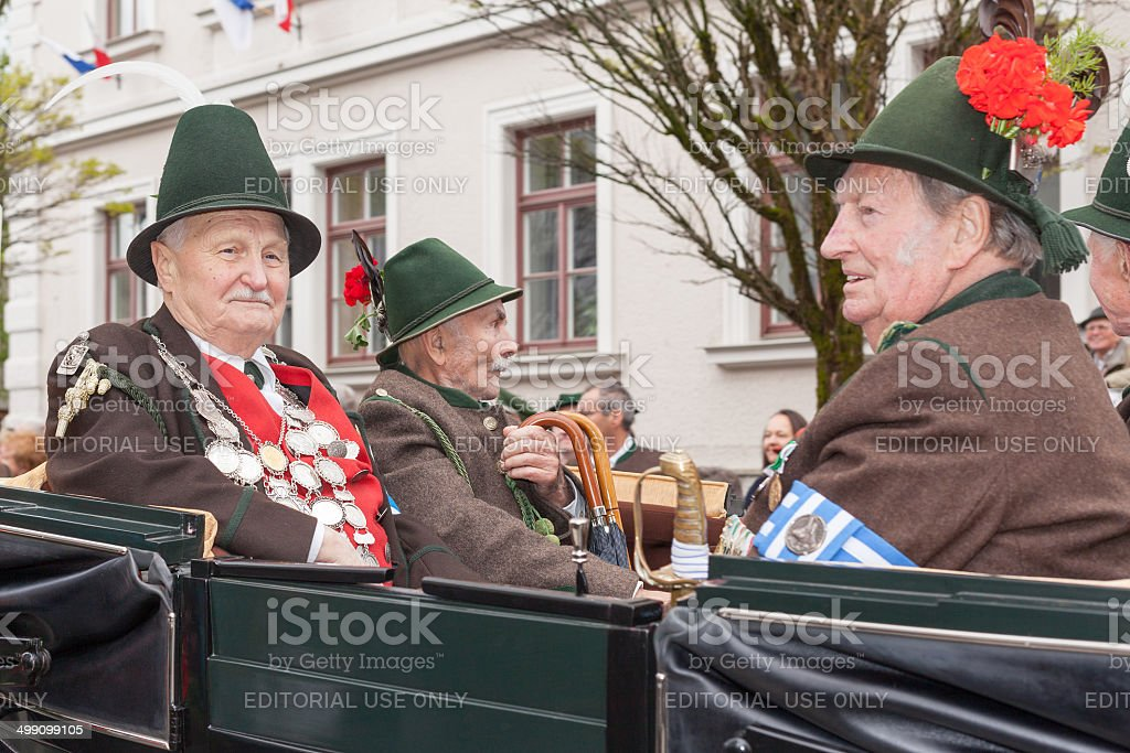Miesbach,Germany – 05.04. 2014:Protect the king and dignitaries stock photo