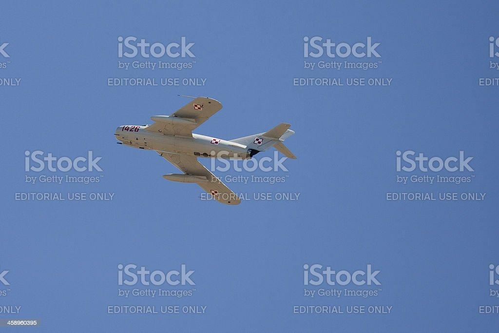 MiG-17 In Flight royalty-free stock photo