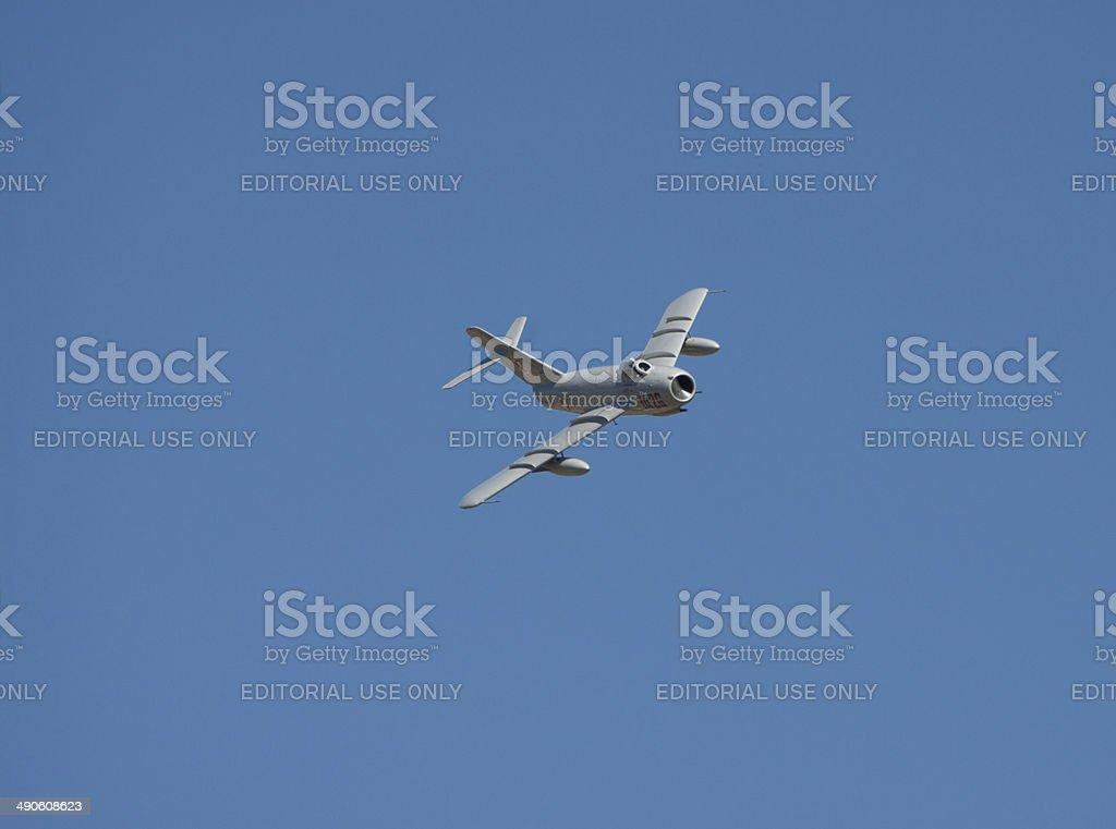MiG-17 In Flight stock photo