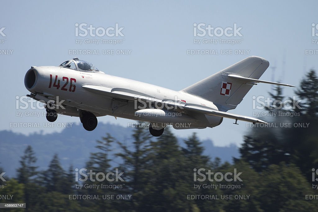 MiG-17 Taking Off stock photo