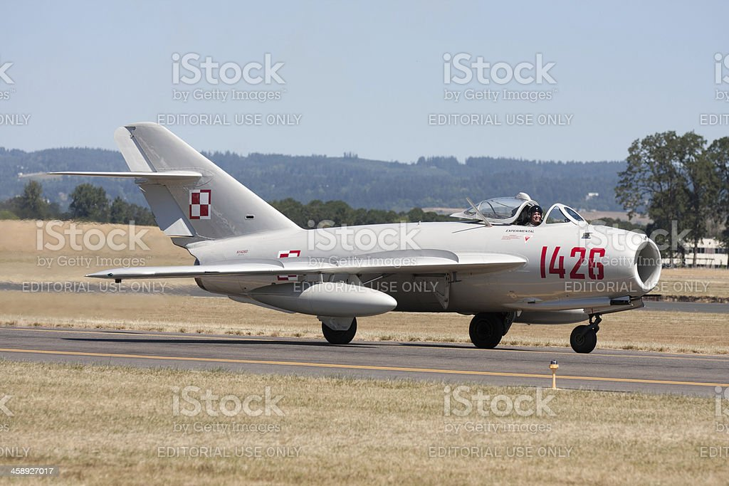 MiG-17 Taxiing In stock photo