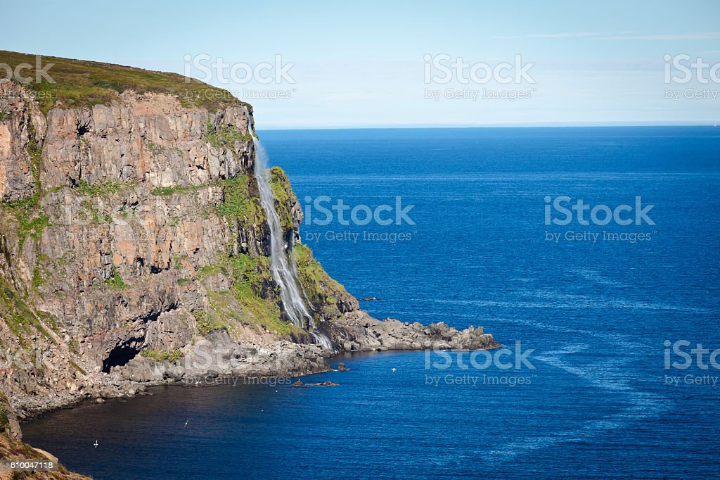 Migandi waterfall stock photo