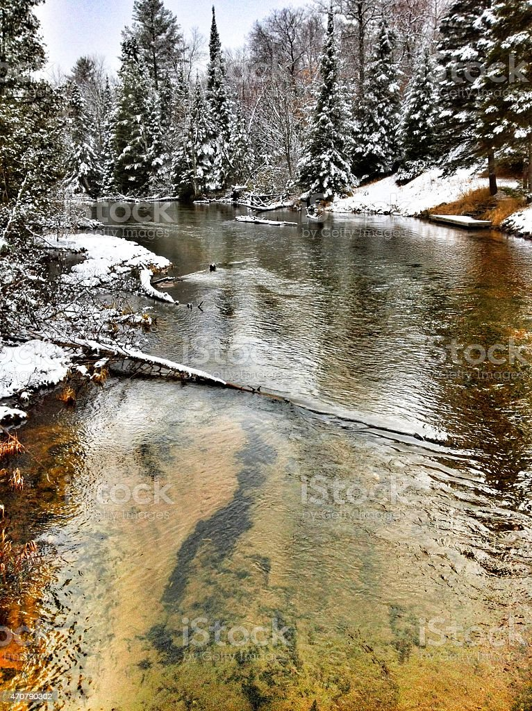 Mighty Ausable River stock photo
