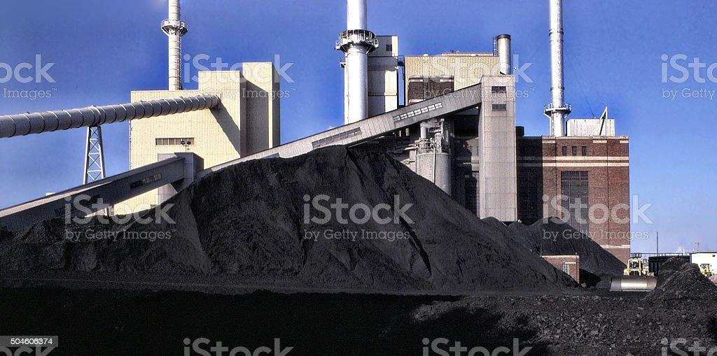 Mighty Coal stock photo
