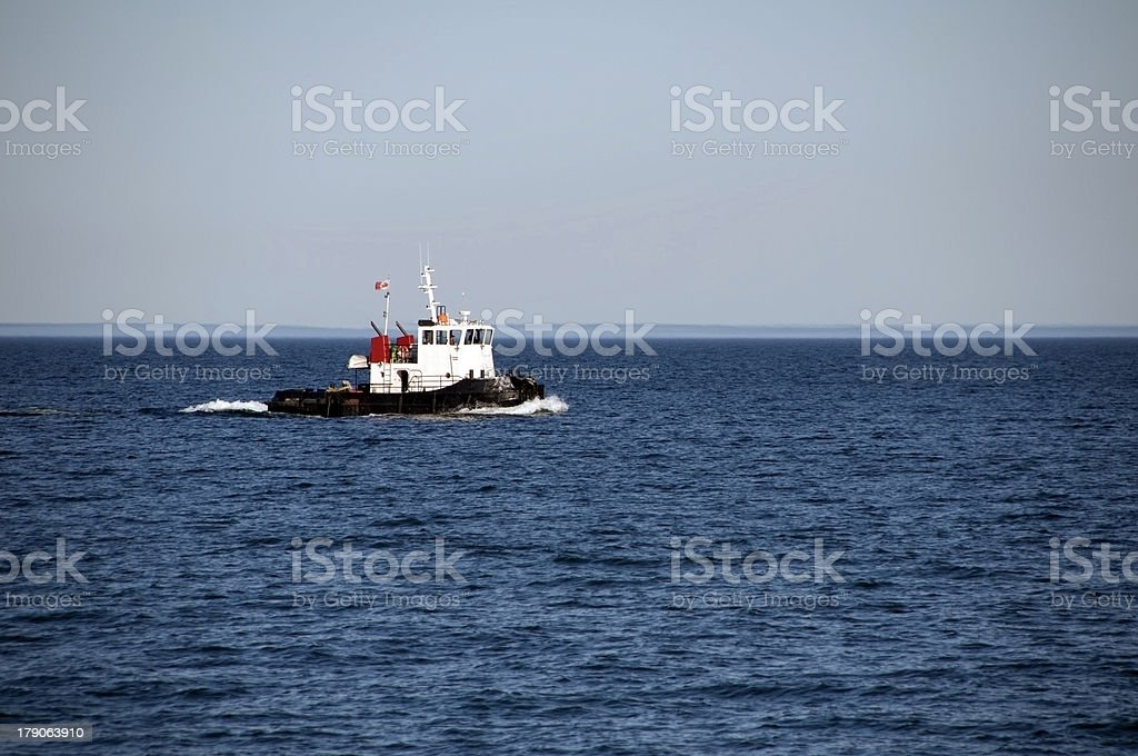 Mighty Tugboat stock photo