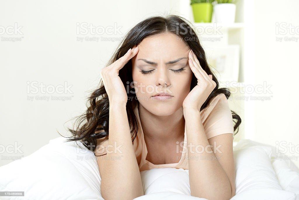 migraine stock photo