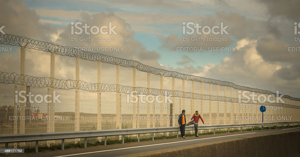 Migrant crisis - To land of milk and honey stock photo