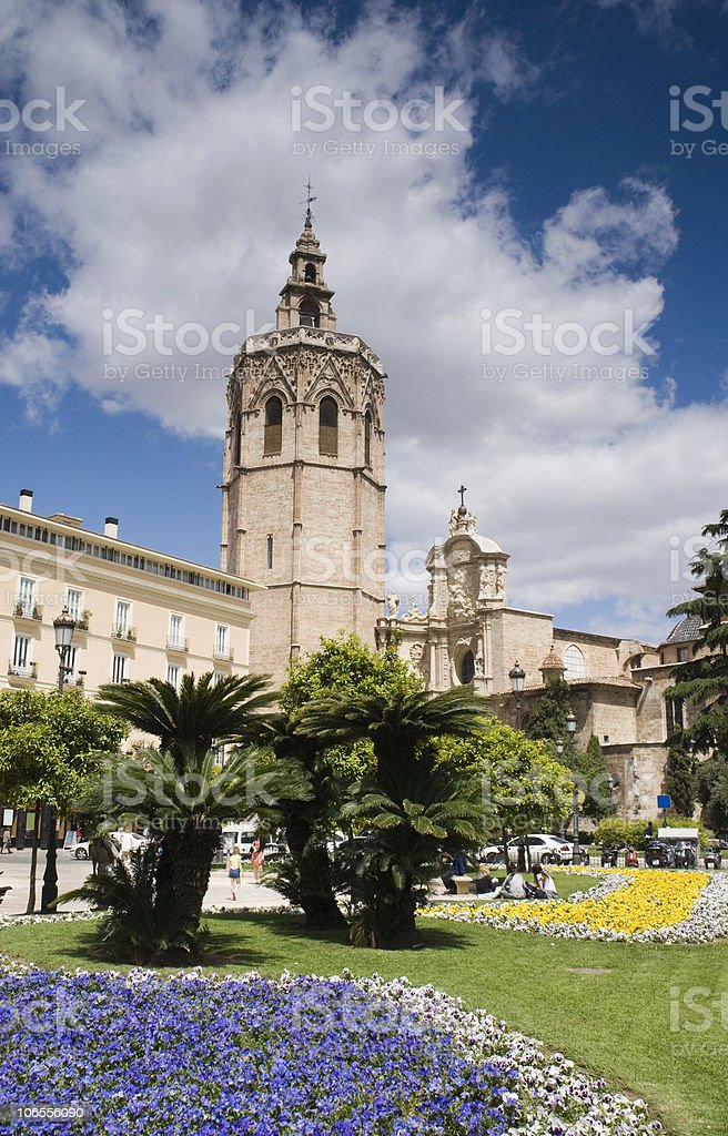 Miguelete Cathedral stock photo