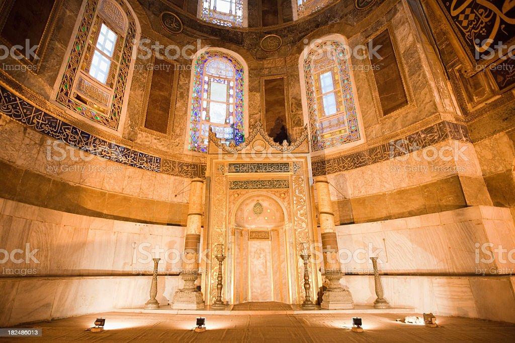 Mihrab Hagia Sophia Istanbul royalty-free stock photo