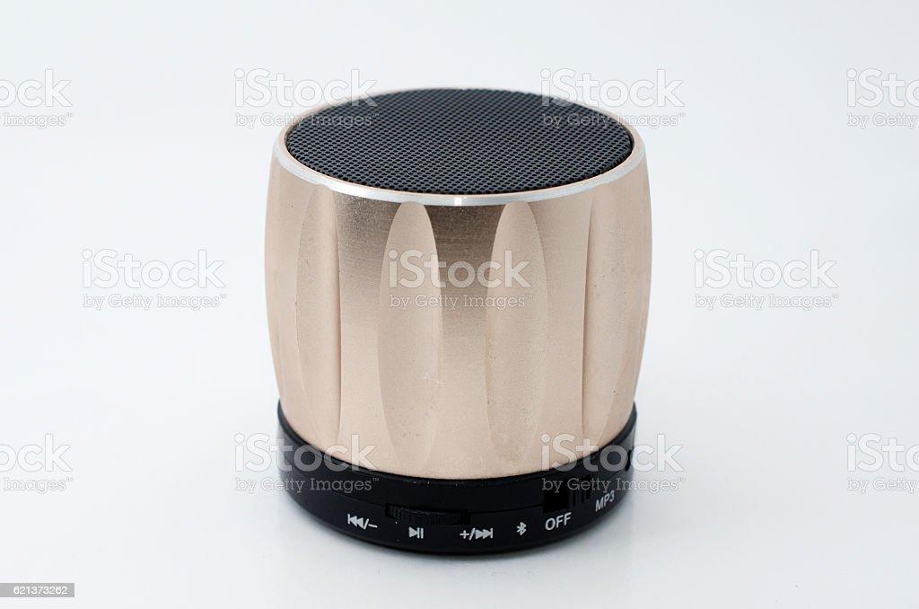 Miini speaker on a white background. stock photo