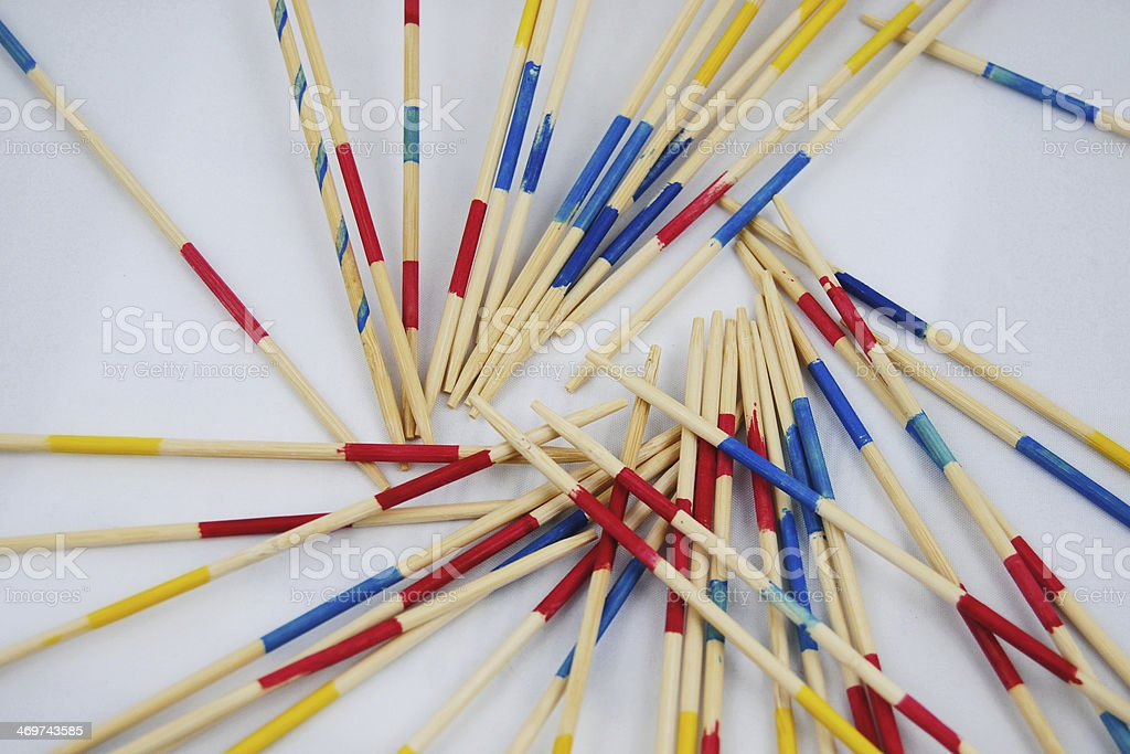 Mikado to practise focus stock photo
