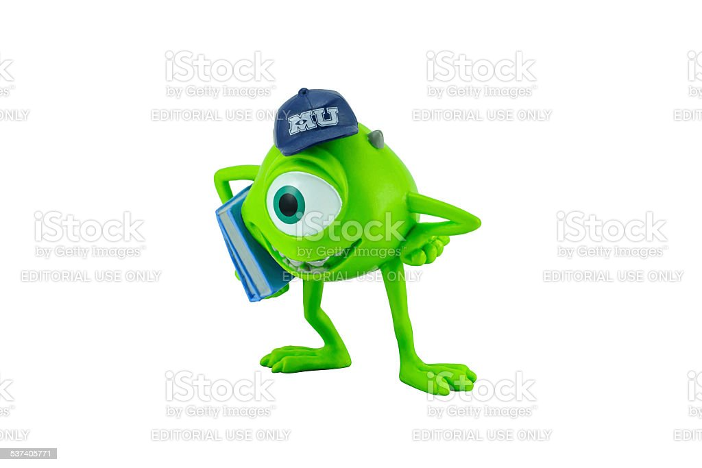 Mike character toy form Monter university movie. stock photo