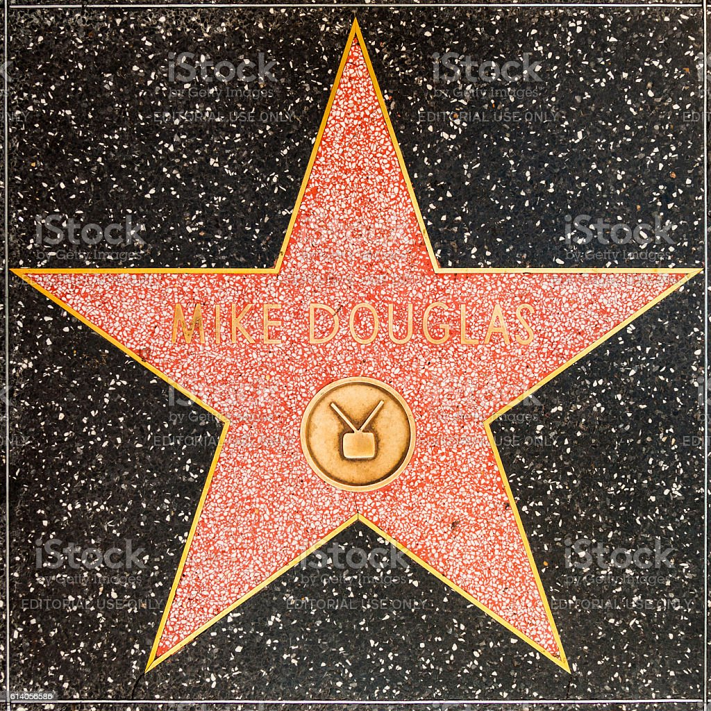 Mike DOUGLAS star on Hollywood Walk of Fame stock photo