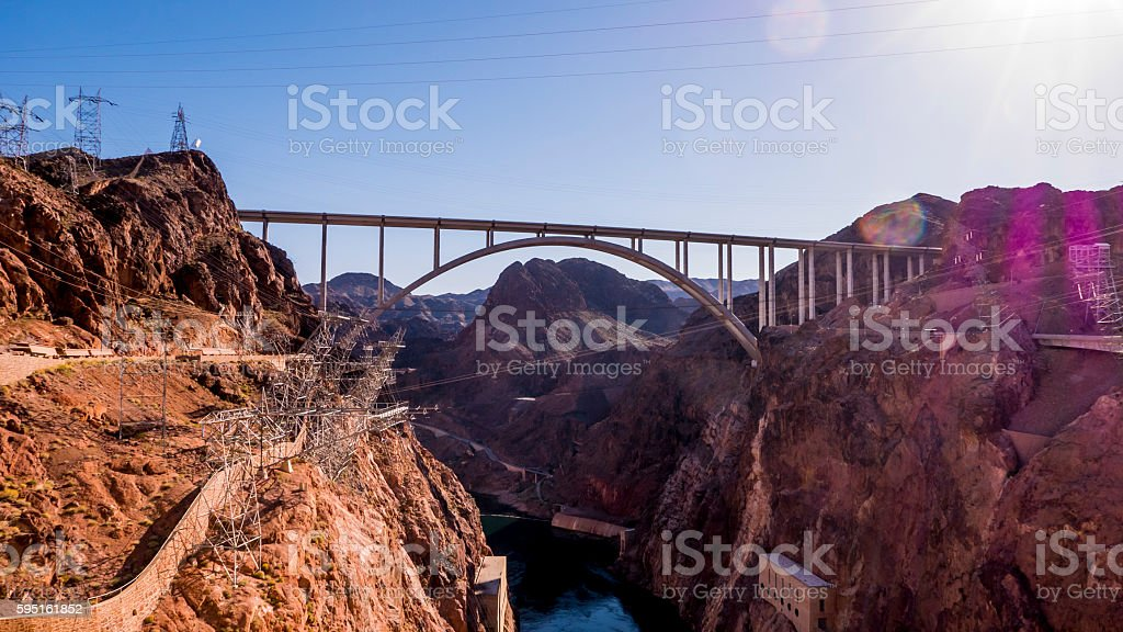 Mike O Callaghan-Pat Tillman Memorial Bridge Lizenzfreies stock-foto