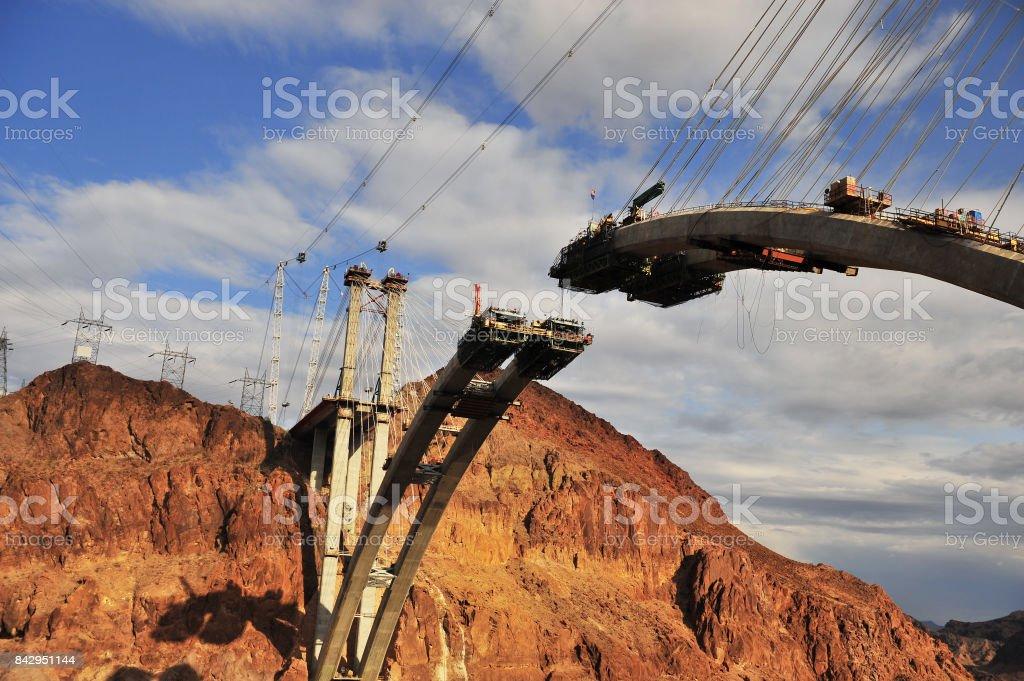 Mike O'Callaghan–Pat Tillman Memorial Bridge, Hoover Dam stock photo