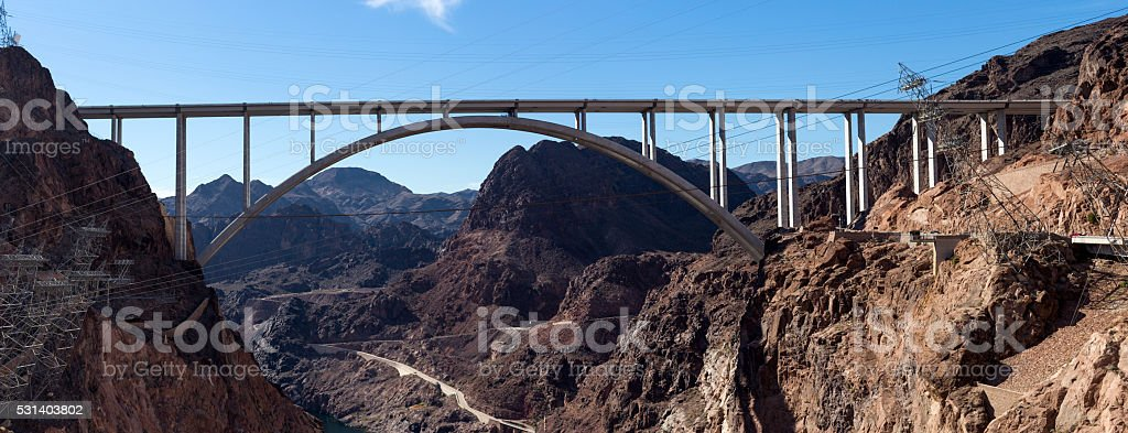 """Mike O'Callaghan-€""""Pat Tillman Memorial Bridge stock photo"""