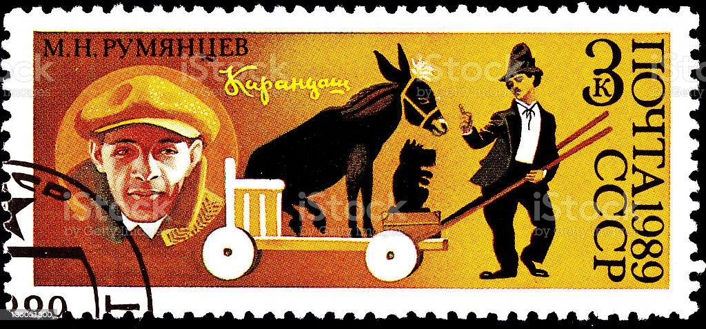 Mikhail Rumyantsev, Russian Clown Karandash royalty-free stock photo