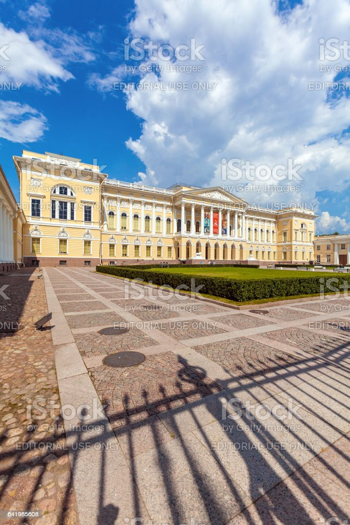 SAINT PETERSBURG, RUSSIA - JULY 26, 2014:  Mikhailovsky Palace, the main building of the Russian Museum stock photo