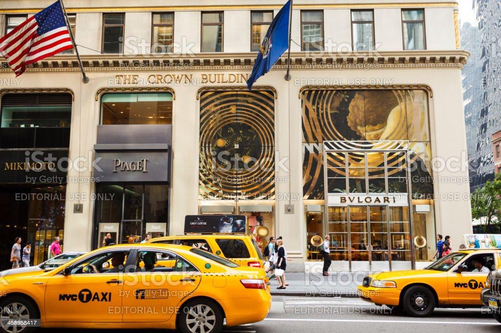 Mikimoto Piaget Bulgari Fifth Avenue Manhattan stock photo