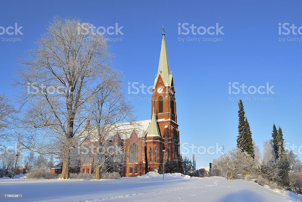 Mikkeli, Finland. Lutheran Cathedral royalty-free stock photo