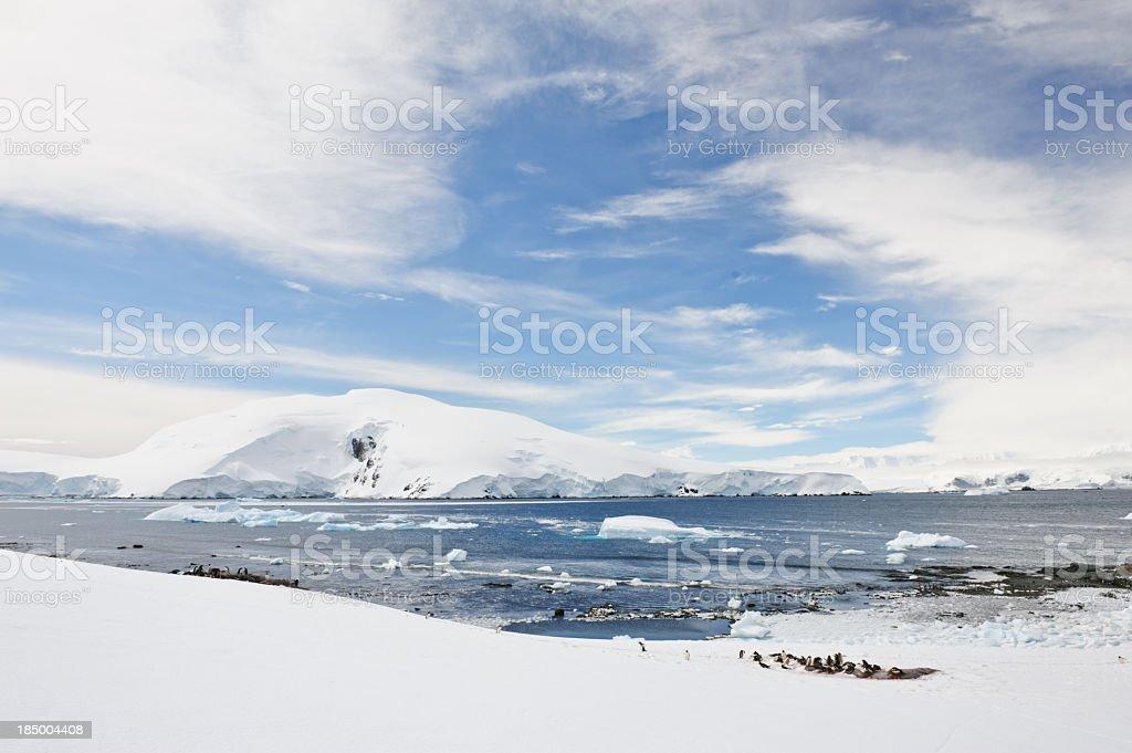 Mikklesen Harbour, Antarctica stock photo