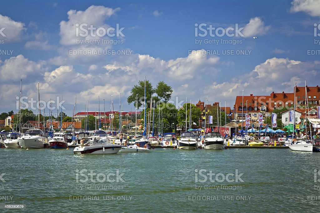 Mikołajki in Summer royalty-free stock photo