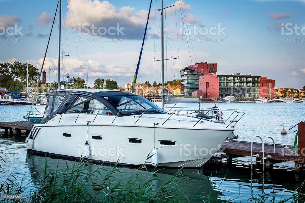 Mikolajki in Summer, Masuria, Poland stock photo
