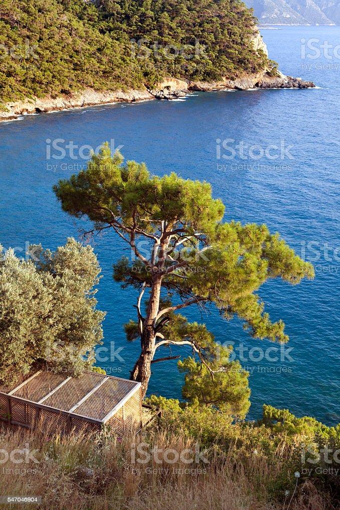 Mikonos Island View stock photo