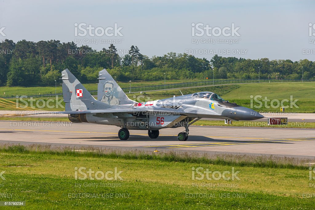 Mikoyan MiG-29 at ILA Berlin Air Show 2014 stock photo