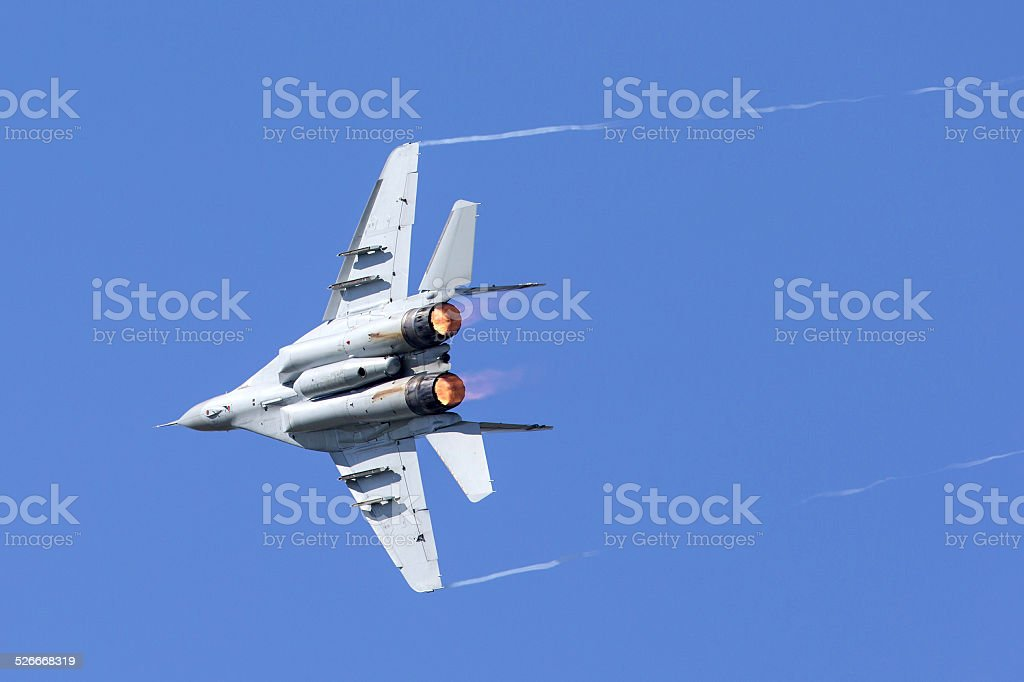 Mikoyan-Gurevich MiG-29 Fulcrum fighter Aircraft stock photo