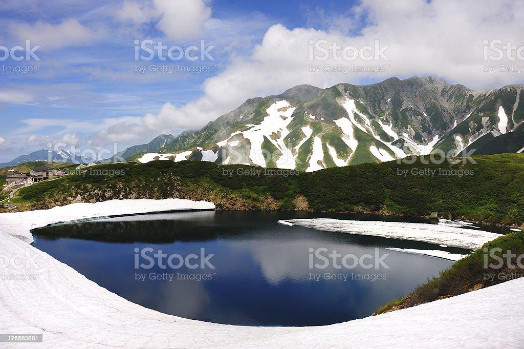 Mikurigaike Pond at Chubu Sangaku National Park, Japan stock photo