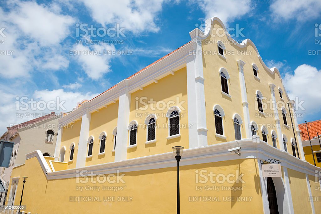Mikve Israel-Emanuel Synagogue in Willemstad, Curacao stock photo