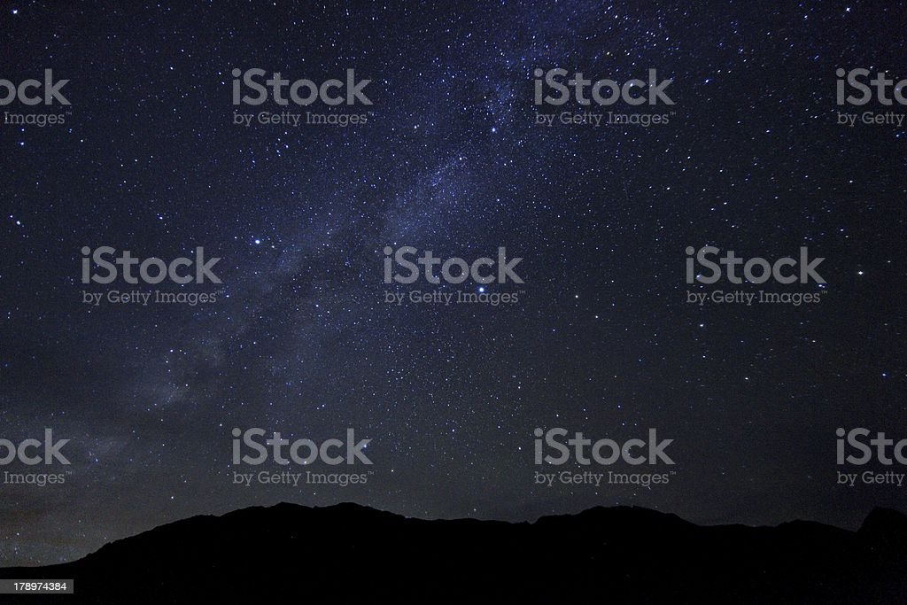 Miky Way Time Lapse Image stock photo