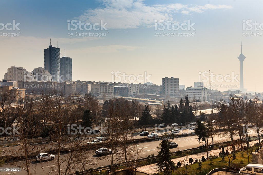 Milad tower in Tehran stock photo