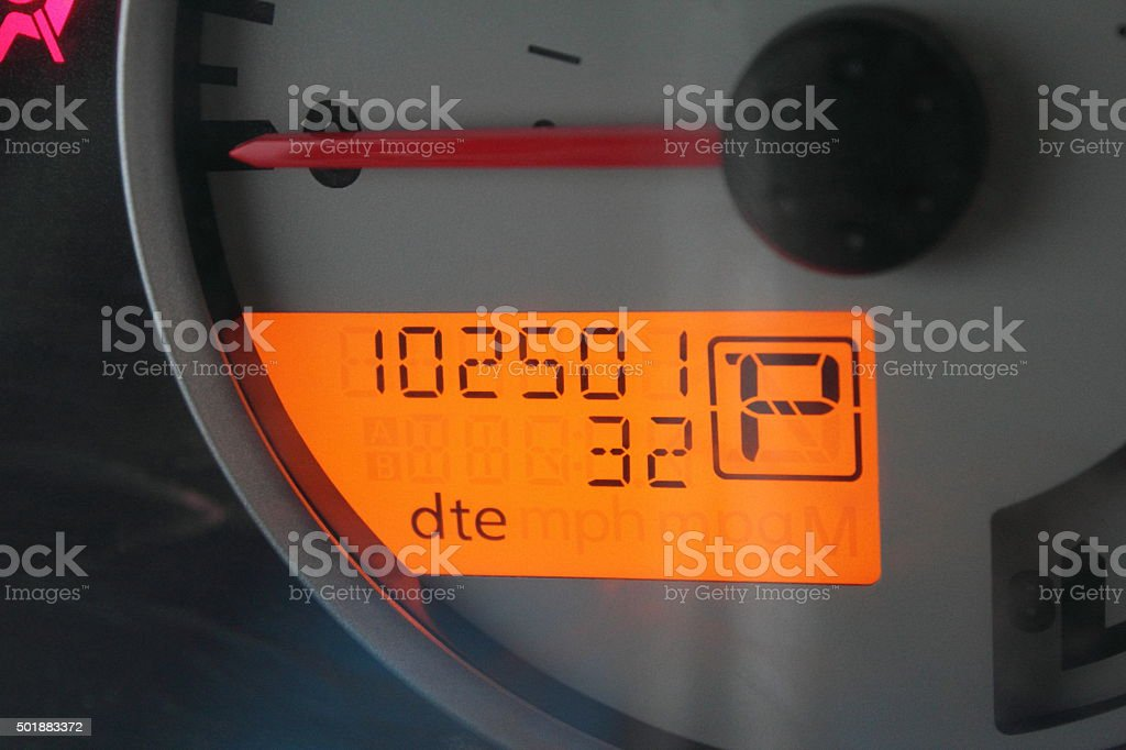102501 milage stock photo