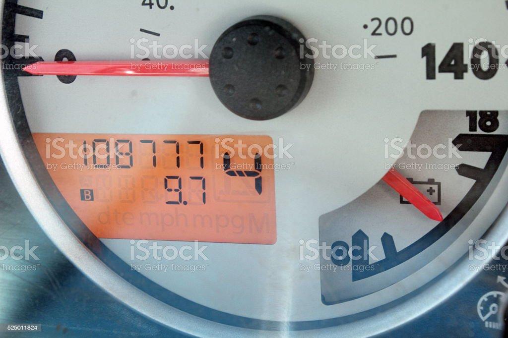 108777 milage stock photo