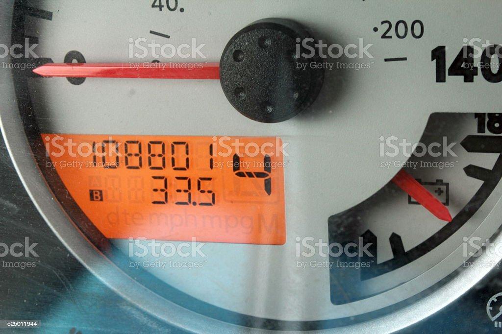 108801 milage stock photo