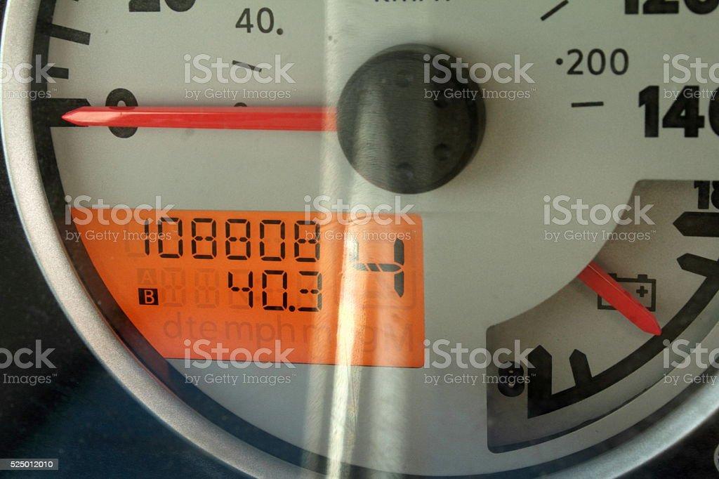 108808 milage stock photo