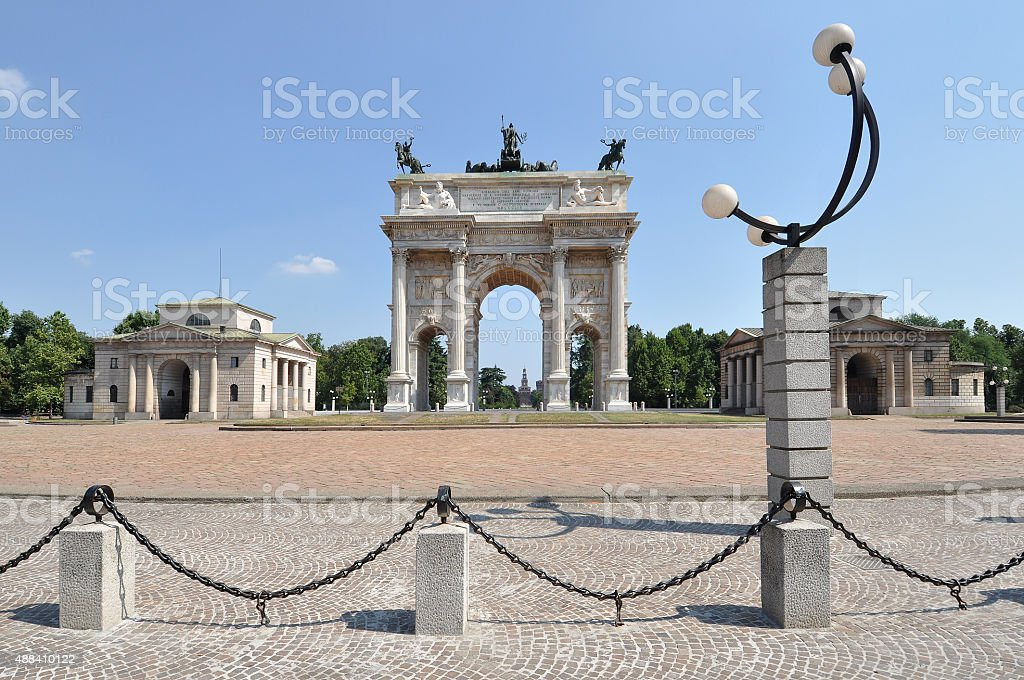 Milan - Arch of Peace stock photo