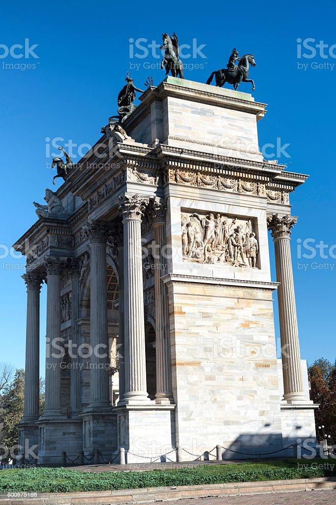 Milan (Italy): Arco della Pace stock photo