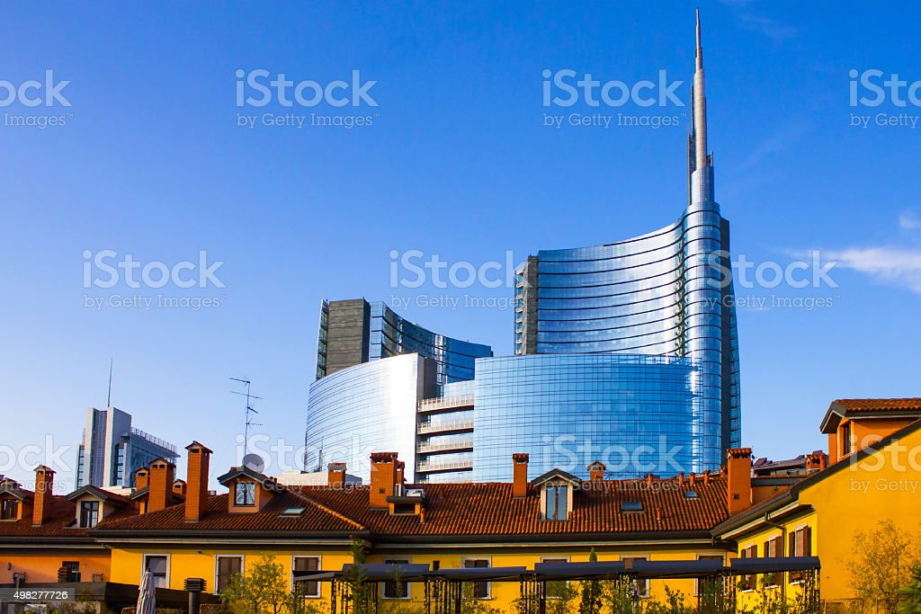 Milan business district, Italy stock photo