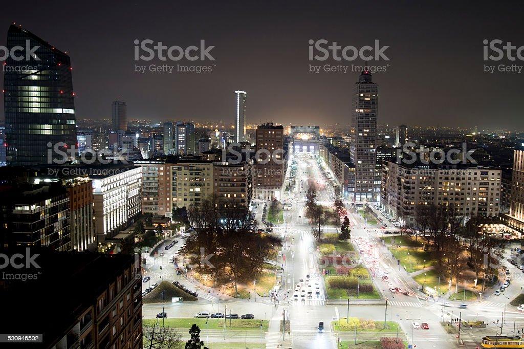 Milan by Night stock photo