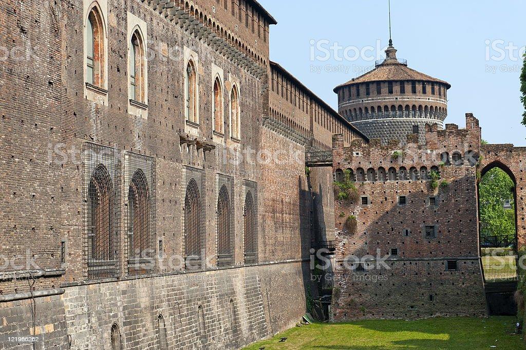 Milan (Italy) - Castello Sforzesco stock photo